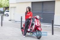 Ca sĩ Phương Ly em gái Phương Linh chụp ảnh cùng bộ sưu tập xe điện Dibao 2018