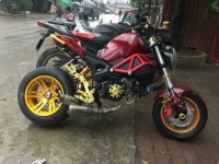 Xe máy Ducati Monster 110 độ cực chất của thanh niên Hà Nội