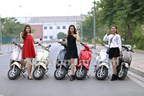 Đẳng cấp vượt trội của xe máy điện Vespa Nioshima Byvin 2017