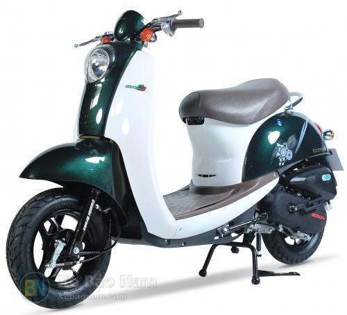 Xe ga 50cc Scoopy màu xanh bồ đội