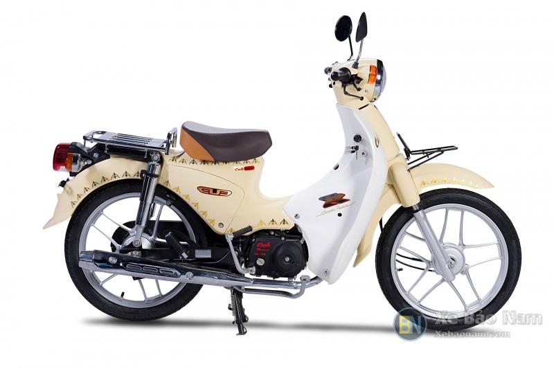 Xe máy Cub 81 Vành Đúc JAPAN Màu Trắng Sữa