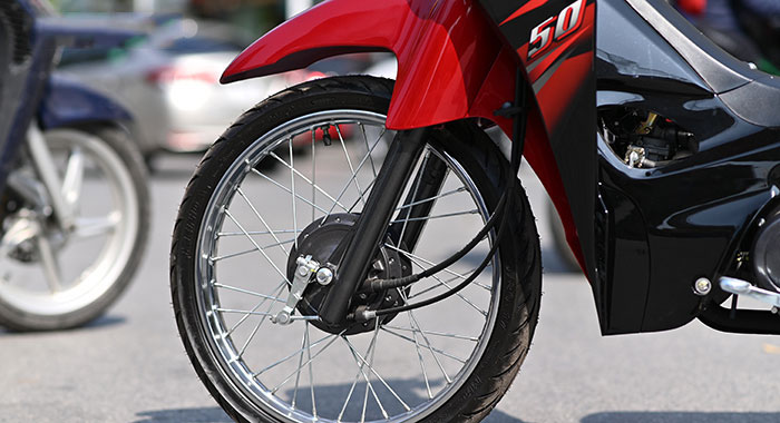 Bánh trước xe máy 50cc elegant sym