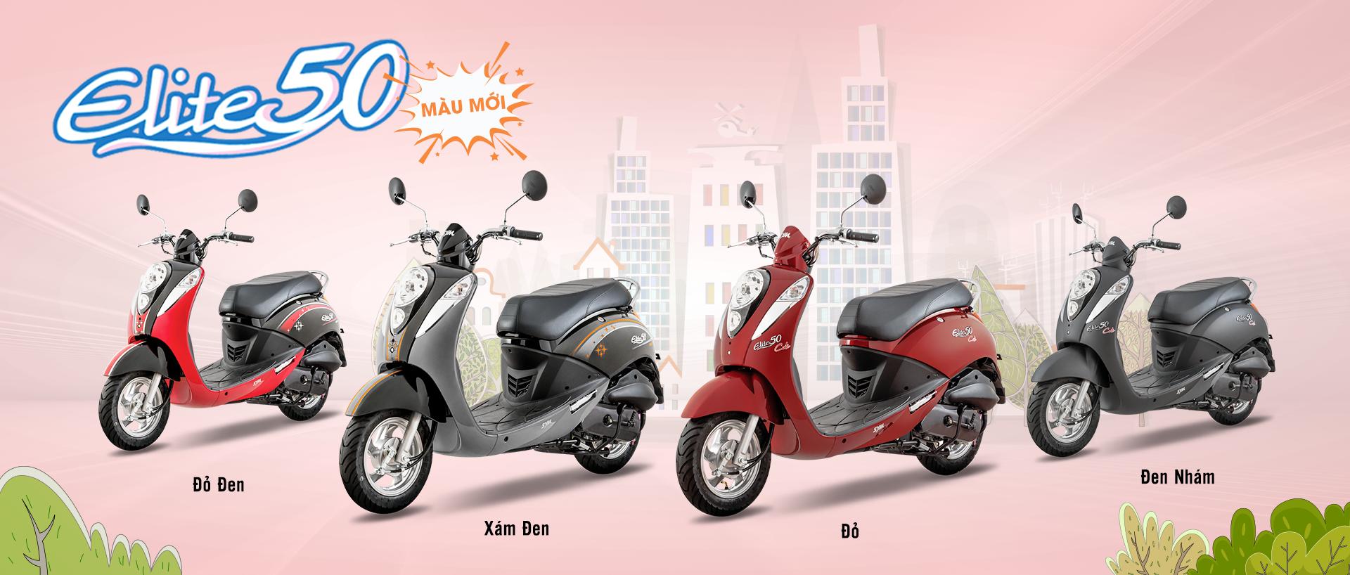 Giá xe máy 50cc Elite Sym