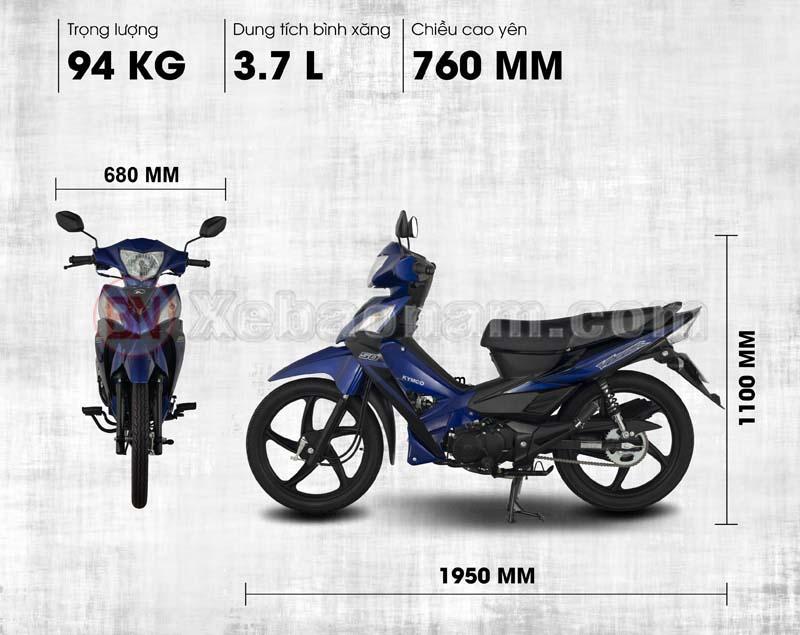Trọng lượng xe máy 50cc kymco visar