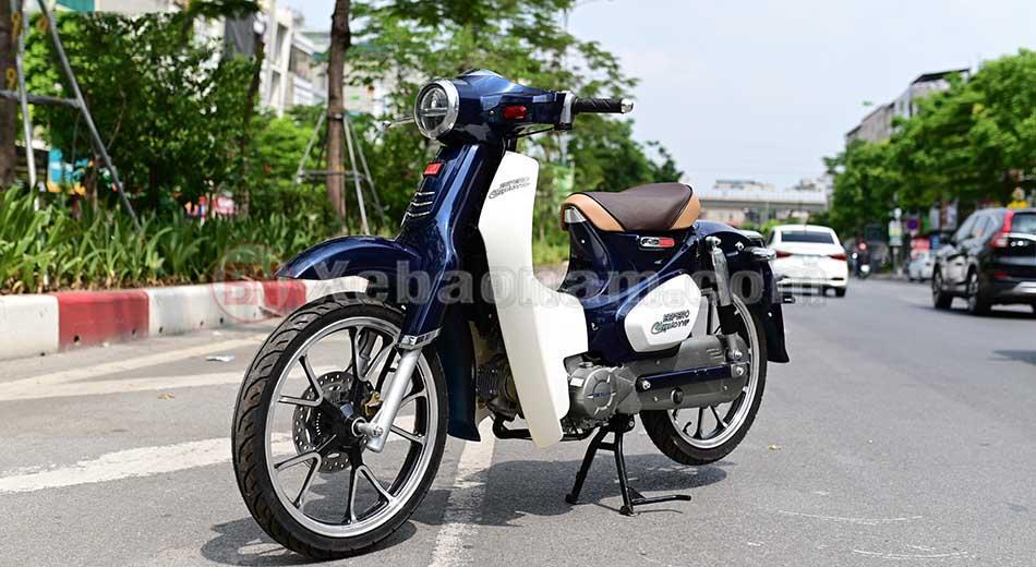 Xe cub 50cc classic vvip chính hãng Detech màu xanh