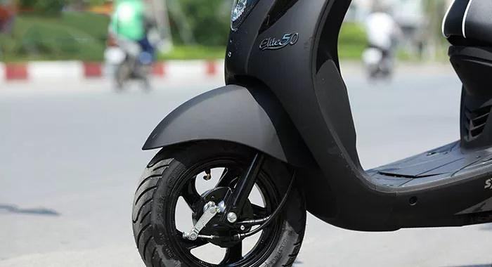 Bánh trước xe ga elite sym 50cc