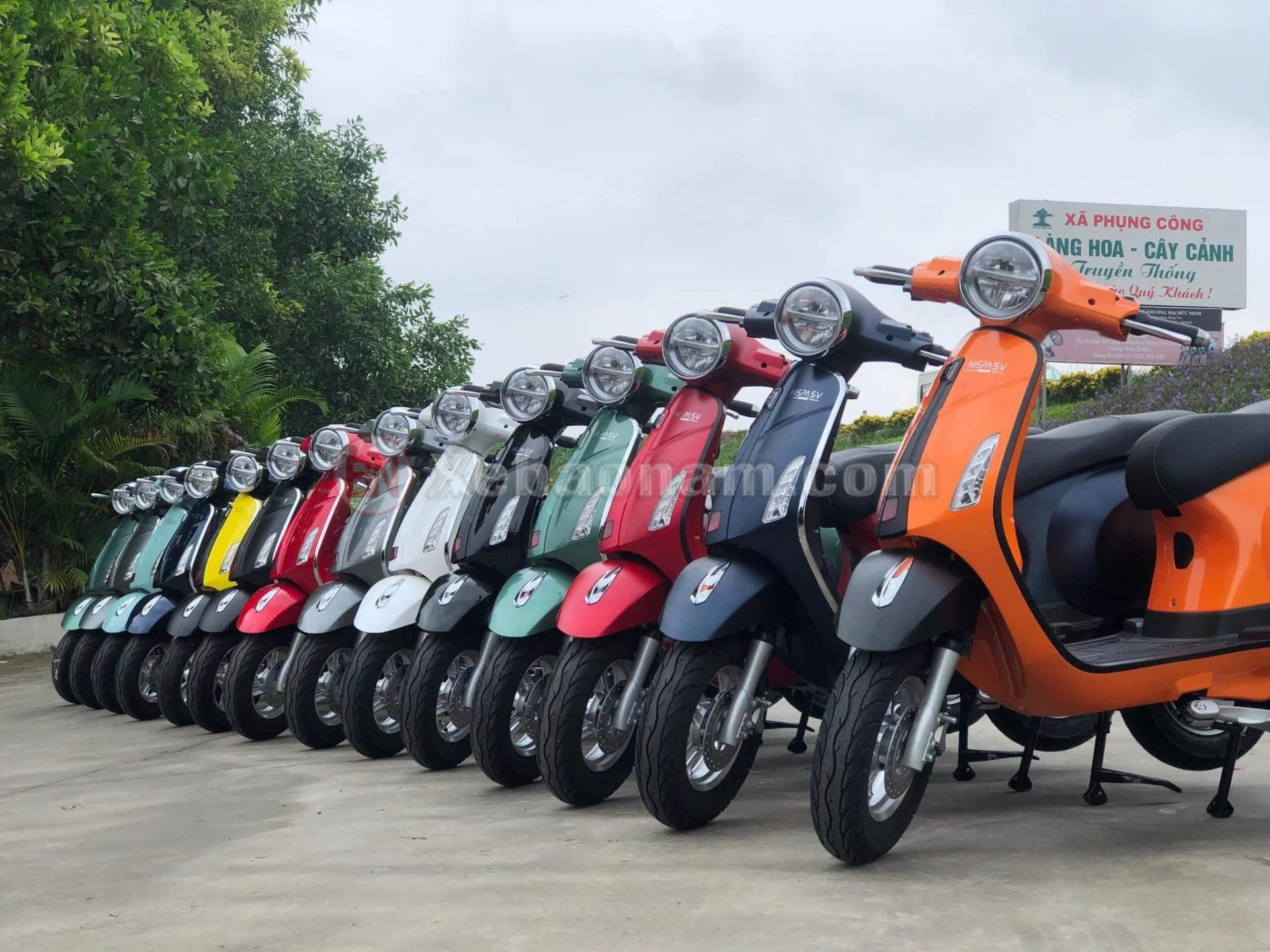 Các màu chủ đạo xe máy điện osakar nispa sv