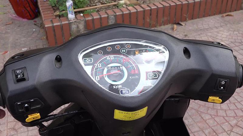 Đồng hồ xe máy 50cc sym elegant vành đúc