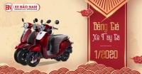 Bảng giá xe Tay ga 50cc Mới Nhất tháng 1/2020