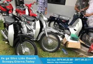 Xe máy Cub Classic 110cc Thailan Xanh Cửu Long ( Có Săm)
