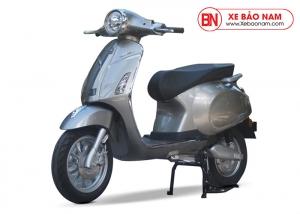 Xe máy điện Vespa Lima 2019 màu xám bạc 2 phanh đĩa