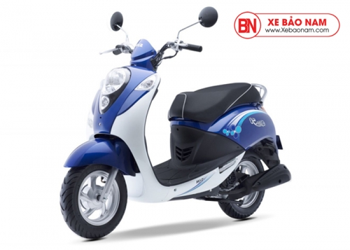 Xe ga 50cc Elite chính hãng Sym - Màu Xanh Trắng