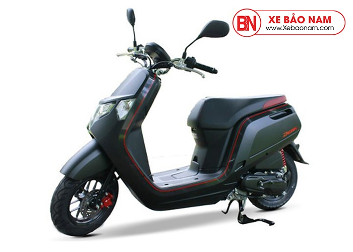 Xe ga 50cc Honda Dunk Nhật Bản Nhập Khẩu màu đen viền đỏ