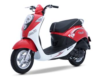 Xe ga 50cc Elite chính hãng Sym - Màu Đỏ Trắng