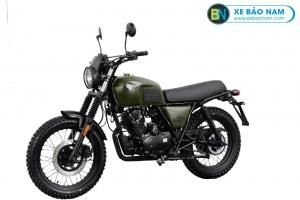 Xe Brixton Scrambler BX150X màu xanh quân đội