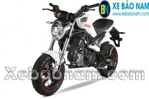 Xe máy Ducati Monster Mini 110 màu trắng