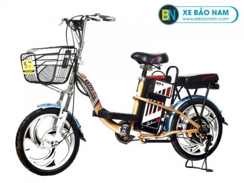Xe đạp điện BMX Inox màu 50% vành 18 inch