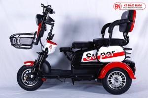 Xe điện 3 bánh Super màu đỏ nâu Mới nhất 2020