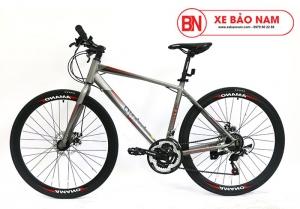 Xe đạp Amano AT100 Mới nhất xám đỏ