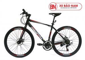 Xe đạp Amano AT100 Mới nhất đen đỏ