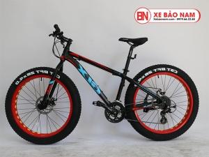 Xe đạp GLX CST BFT 26x4.0 Mới nhất màu đen đỏ