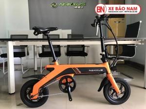 Xe điện gấp Nakxus 8 inch Mới nhất màu cam