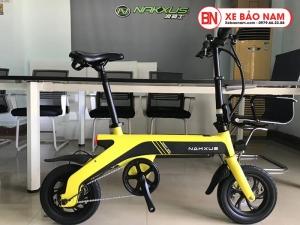 Xe điện gấp Nakxus 8 inch Mới nhất màu vàng