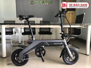 Xe điện gấp Nakxus 8 inch Mới nhất màu xám đen