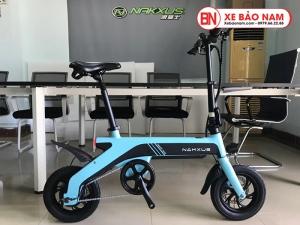 Xe điện gấp Nakxus 8 inch Mới nhất màu xanh dương