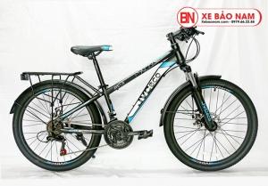 Xe đạp JVC Eco Mới nhất màu đen xanh_copy