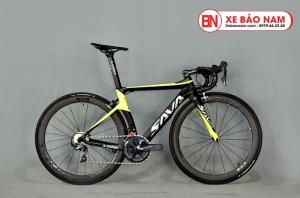 Xe đạp đua Sava X3 màu đen vàng