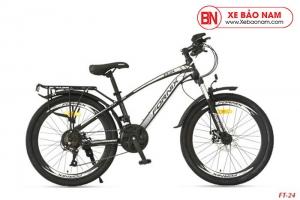 Xe đạp thể thao Fornix FT24 Mới nhất màu đen trắng