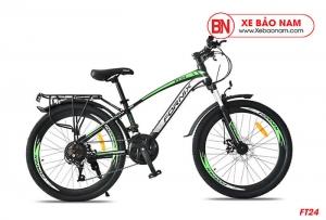 Xe đạp thể thao Fornix FT24 Mới nhất màu đen xanh