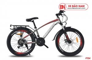 Xe đạp thể thao Fornix FT24 Mới nhất màu xám đỏ