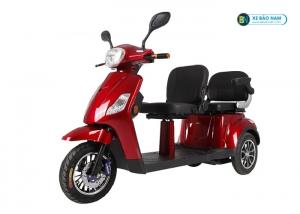 Xe điện 3 bánh Emoto màu đỏ 2 chô ngồi