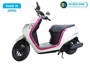 Xe ga 50cc Honda Dunk 2020 Nhật Bản Nhập Khẩu màu trắng viền hồng