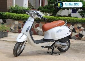 Xe ga 50cc Roma SE Dk bike màu trắng yên nâu