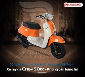 Xe ga 50cc Crea Hyosung màu cam