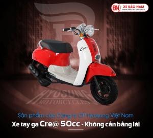 Xe ga 50cc Crea Hyosung màu đỏ trắng