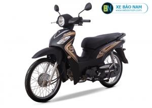 Xe máy Angela 50cc Sym màu đen viền vàng