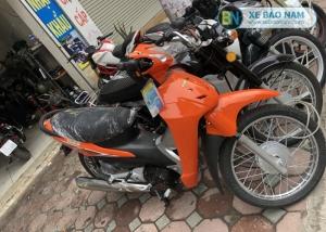 Xe máy Wave 50cc detech màu cam