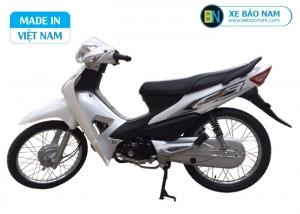Xe máy Wave 50cc detech màu trắng