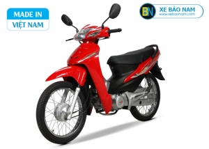 Xe máy Wave 50cc Dealim màu đỏ