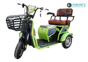 Xe máy điện 3 bánh 2 chỗ ngồi đa năng màu xanh