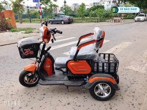 Xe điện 3 bánh Lixi màu cam