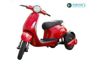 Xe máy điện 3 bánh Vespa màu đỏ