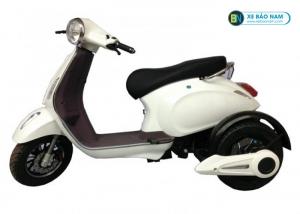 Xe máy điện 3 bánh Vespa màu trắng