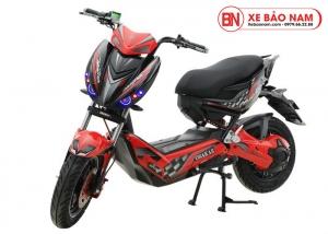 Xe máy điện Xmen Hunter Osakar màu đỏ tem đen