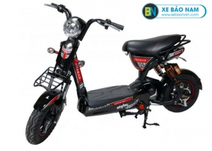 Xe đạp điện Osakar 12A màu đen tem đỏ