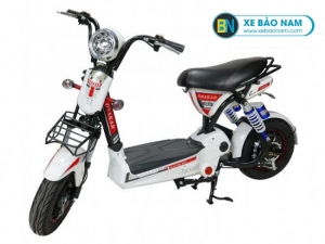 Xe đạp điện Osakar 12A màu trắng tem đỏ